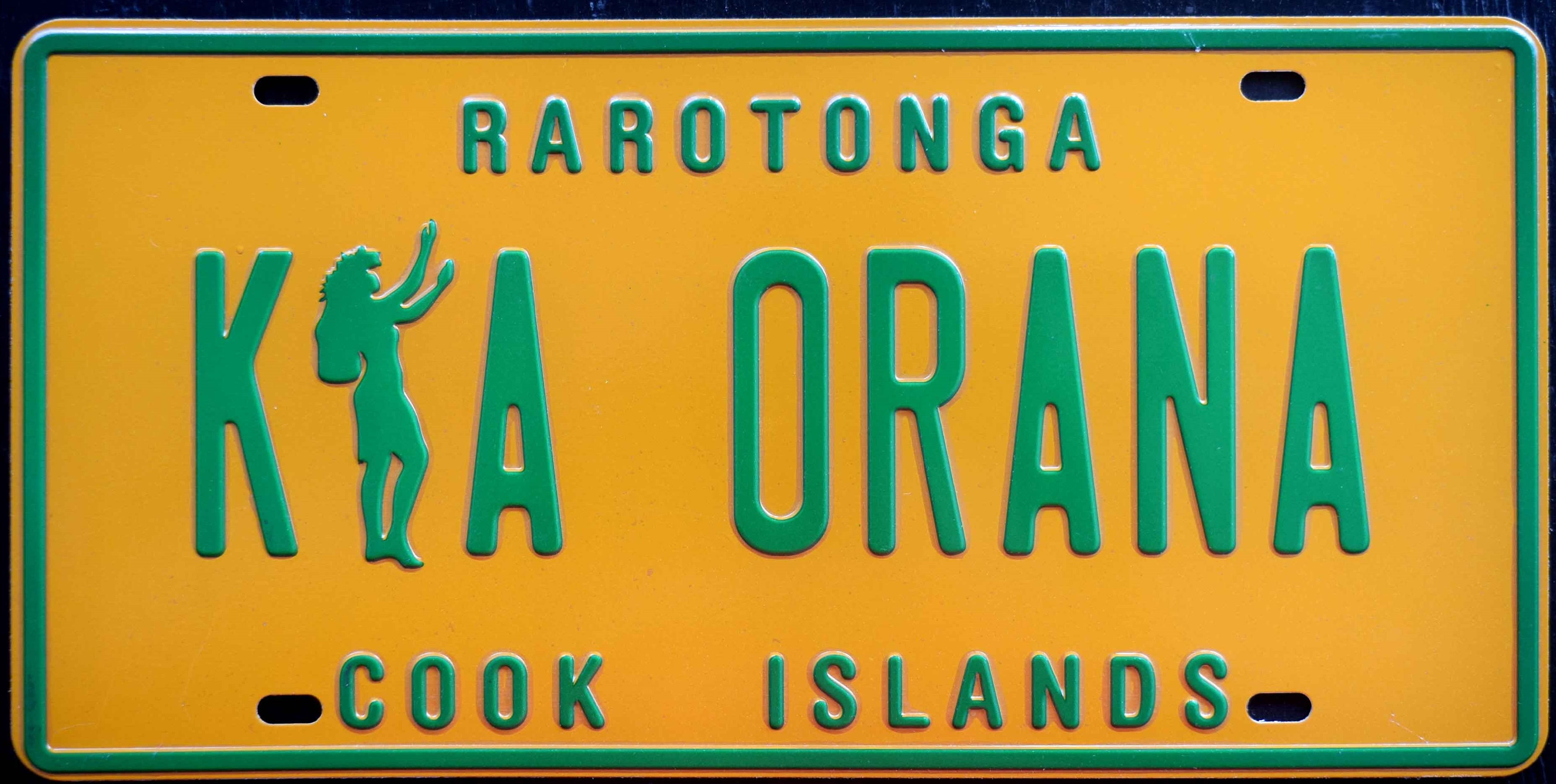 Cook Islands Rego!