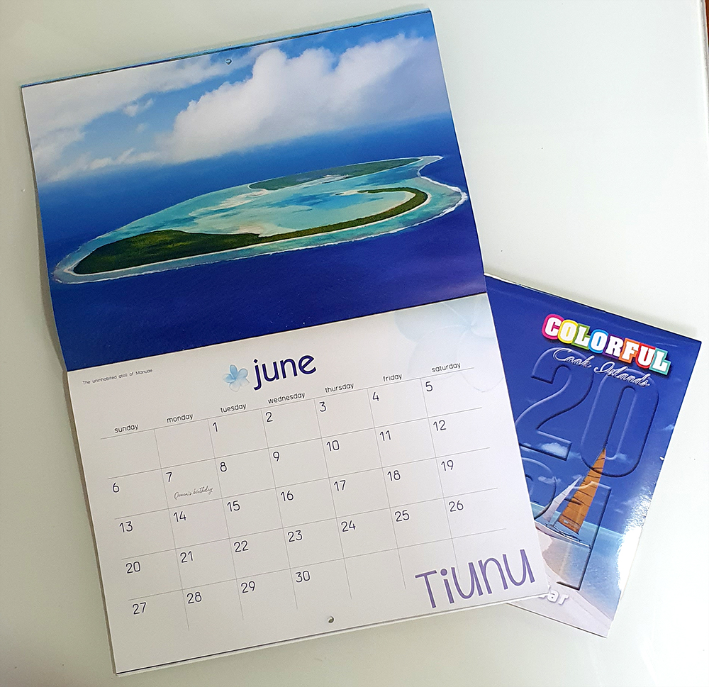 Cook Islands 2021 Colourful Calendar